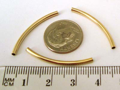 2mm x 30mm Gold Filled eblow Tube (10pcs) GS18 gs230