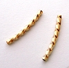 1.5mm  x 15mm Gold filled twist  curved Square Tube (20pcs/pk) G29