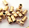 2mm x 3mmGold Filled twisted Crimp Beads Tubes (50pcs/pk) GS40