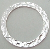 20.5mm Small Round Hammered Sterling Silver Ring connector  H34