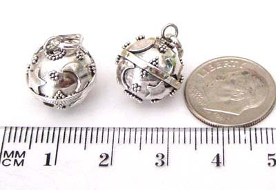 14mm Sterling Silver Harmony Ball Moon Star HM02