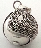 16mm Sterling Silver Yin Yang Harmony Ball Pendant with 36