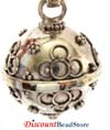 14mm Sterling Silver Round Harmony Ball Pendant HM36