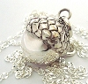 16mm sterling silver Harmony Ball acorn pregnancy maternity Charm pendant with 36