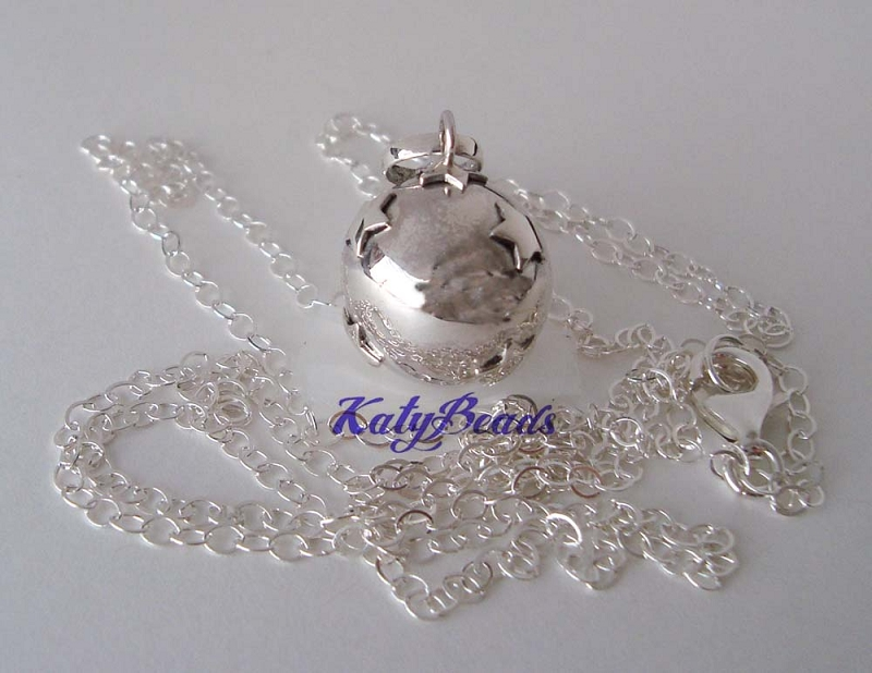 Sterling Silver star Harmony Ball pendant  20