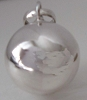 14mm Sterling silver plain bola Harmony Ball pendant HM09