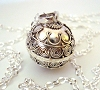 14mm Sterling Silver Harmony Ball Mexican bola Pregnancy baby necklace 36