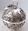 14mm Sterling silver Harmony Ball pendant HM55