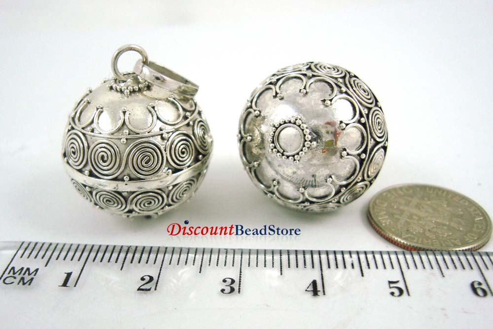 23mm Large Sterling Silver Bali Chime Harmony Ball HM55