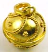 14mm gold plated silver chime harmony ball Bell HV6