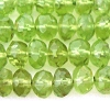 4.5 - 5mm Faceted rondelle Peridot gemstone 14