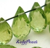 6mm x 4mm  Arizona Faceted Teardrop drop Peridot gemstone top drilled 10pcs  (COPY)