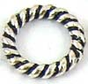 6mm Sterling Silver Twisted wire Jump Rings Closed (50pcs/pk) R06o