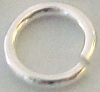 8mm 16 gauge Sterling Silver Plain round Open Jump Rings (30pcs/pk) R48