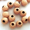 3mm Rose gold filled stardust Round beads (50pcs) RB13