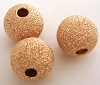 8mm Rose gold filled stardust Round beads (4pcs) RB18