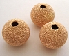 10mm Rose gold filled stardust Round beads  RB19