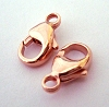 11mm x 6mm 14k Rose gold filled lobster clasp (4pcs) Rt05