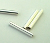 1.5mm x 10mm Sterling Silver straight tube spacer  (50pcs/pk) S109