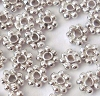 3.5mm Sterling Silver light oxidized Daisy Spacers (50pcs/pk)