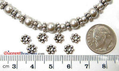 6mm Sterling Silver Daisy Spacer (20pcs/pk)