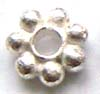 7.5mm brigth sterling silver daisy spacer (10pcspk) s033