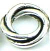 10mm x 2.8mm Sterling Silver Twisted Rings spacer (6pcs/pk)  S45