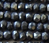 3mm faceted rondelle Black Spinel mini Bead spacer  13