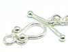 15mm x 8mm Bright Sterling Silver Toggle T001