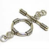 15mm Sterling Silver Bali Toggle
