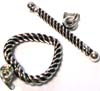18mm Heart Shape Twisted Wire Sterling Silver Toggle T23