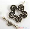 15mm Sterling Silver floral toggle T24