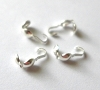 Clam Shell sterling silver bead tips with 1 loop (50pcs/pk) F97