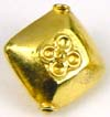 14mm gold plated silver  24K gold Plated Bali Bead VB01