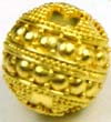 14mm gold plated silver Bali Bead VB54