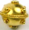 10mm x 10.5mm gold plated silver Bali Bead VB57