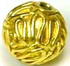 9mm x 9mm gold plated silver Wire ball bead VB63