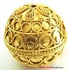 30mm Huge gold plated silver Ornate Bead VB80