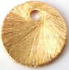 8mm gold plated silver  Brushed Round disk Dangle (20pcs/pk) VD28