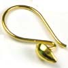 20 gauge 5 pairs gold plated silver Bali Earring wire hook VE09