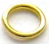 7mm gold plated silver Open Jump Ring 18 gauge (30pcs/pk) VR05