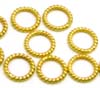 7mm  gold plated silver 24k closed Twisted WireJump Ring (30pcs/pk)