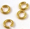 3mm gold plated silver Open Jump Ring 20 gauge (50pcs/pk) VR08