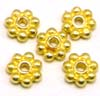 5mm gold plated silver Daisy Bali Spacers (20pcs/pk)