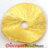 10mm Brushed gold plated silver Potato Chip Curly Disk Spacer VS35 (10pcs/pk)