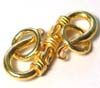 26mm gold plated silver Bali Hook Clasp VT26